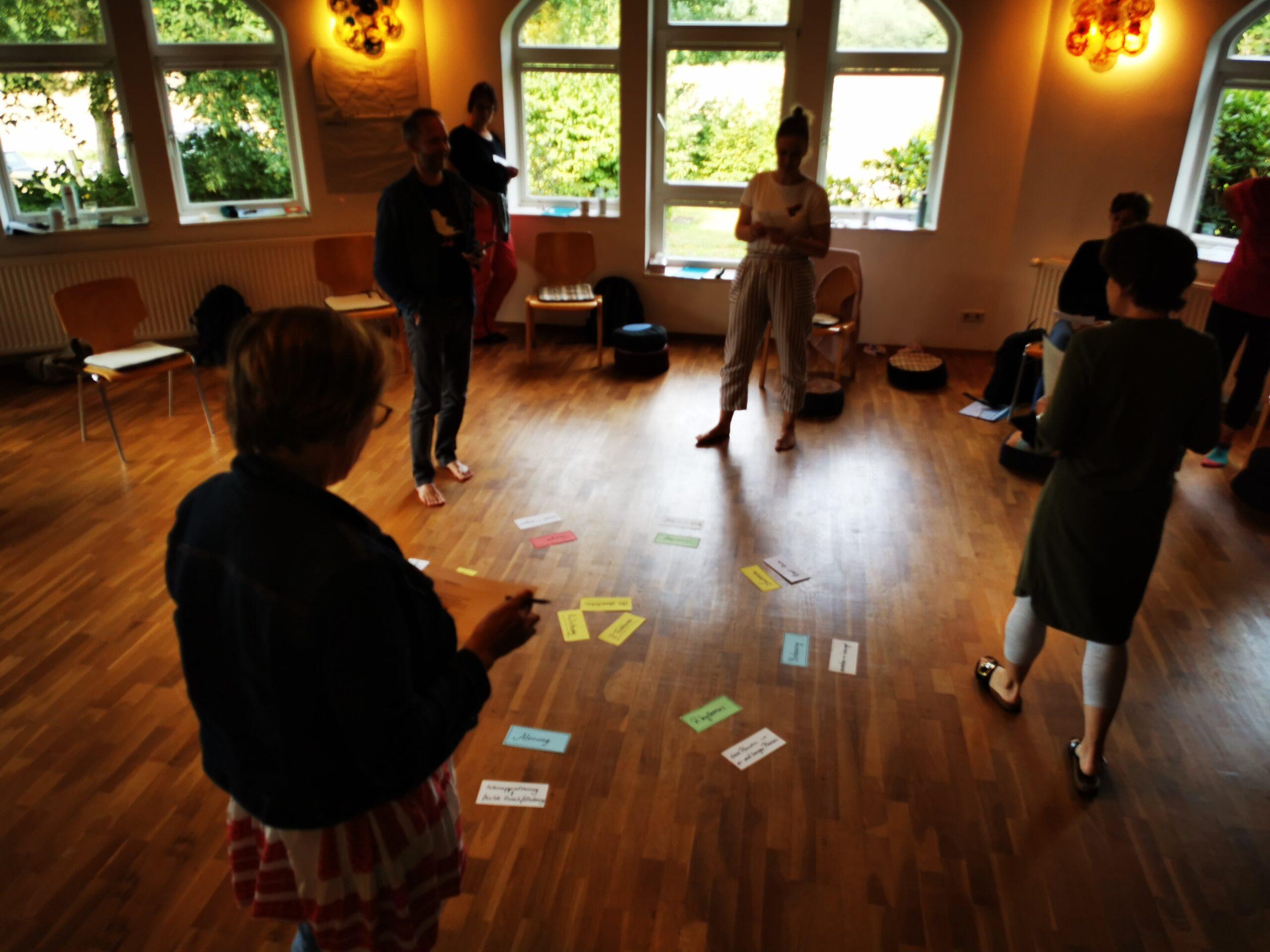 Workshop Teilnehmer:innen im Stimm Retreat